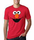 Sesame Street Elmo Face Adult T-Shirt New