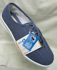 Ladies easy B Senna Demin Blue Canvas Lace Up EE/4E Fitting