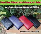 New FUTURA Womens M/L Trifold Genuine Leather Wallet/note card ID coin Purse+Box