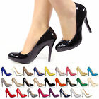NEW LADIES STILETTO HIGH HEELS MULTICOLOUR COURT SHOES SIZE  3 4 5 6 7 8