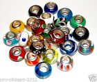 925 STAMPED STERLING SILVER CORE MURANO GLASS CHARM BEAD BUYERS CHOICE LOT #3