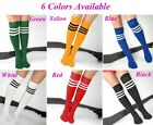 6color new Men Ladies Football Running Knee High Stripe Tube Socks Sport Soccer