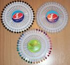 Pin Wheel of 40 Pearl Head Pins 32mm long Choice of Colours