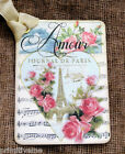 Hang Tags  FRENCH PARIS AMOUR LOVE TAGS or MAGNET #290  Gift Tags