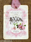 Hang Tags  FRENCH PARIS PINK ROSE BIRD TAGS or MAGNET #573  Gift Tags