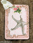 Hang Tags  PINK STARFISH ROSE TAGS or MAGNET #340  Gift Tags