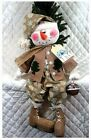 "~Primitive Raggedy ""FROSTY FREDDY"" Snowman~PATTERN 399~by Ginger Creek Crossing"