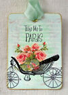 Hang Tags  TAKE ME TO PARIS FLORAL CARRIAGE BUGGY TAGS or MAGNET #545  Gift Tags