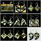 E1011 Pair Abalone shell Different shape earring
