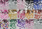 1000 FlatBack Rhinestone gems Wedding Card DIY Craft *7 FOR 5*