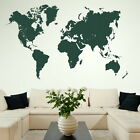 Map Of The World Large Vinyl Transfer / Giant Removable Wall Sticker bn12