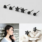 New fashion Earrings black Star/Round/Heart Allergy Free ear stud earrings