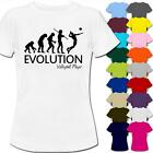 Evolution Of A Volleyball Player Womens Ladies T-Shirt