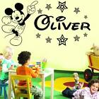 Mickey Mouse wall sticker Personalised any name boys wallart AFC2