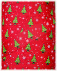7/8 CHRISTMAS TREES RED LIME GROSGRAIN RIBBON 4 HAIRBOW BOW