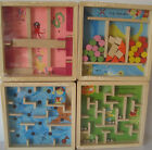 Girl or Boy Mini Wooden Labyrinth Puzzle Game Assorted Designs First Class Post