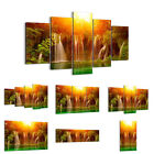 44 Shapes PREMIUM Canvas Picture/Print Wall Art Waterfall Forest Sun 2228 en