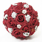 Wedding Foam Roses Bridal Bridesmaid Flower Gilrs Bouquet Posy Buttonhole Red