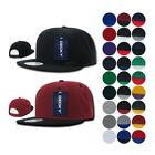 DECKY Plain Blank Two Tone Flat Bill 6 Panel Snapback Baseball Cap Caps Hat Hats
