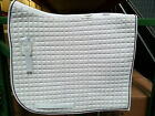 PRI 100% COTTON QUILTED OLYMPIC FLAG TAIL DRESSAGE SADDLE PAD EQUU-FELT (X-LONG)