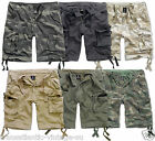 BRANDIT DELUXE LIGHTWEIGHT COTTON VINTAGE CARGO SHORTS MENS ARMY URBAN LEGEND