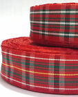 "30yds /27 mts 1 Roll Red Tone Check Gingham Ribbon 7/8"" 2.3cm Width Upick CR2"