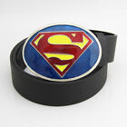 New Dc Comics Classic Blue Yellow Red Superman Superhero mens metal belt buckle