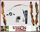 Samick Sage Bow Archery Recurve with Quiver Stringer and Rug Rest RIGHT HAND