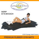 """3/4"""" Thick 4'x6' Premium Rubber Gym Flooring - Crossfit Powerlifting Strongman"""