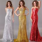 Shinning Sequins Formal Gown prom Ball Cocktail Bridesmaid Evening Party dress