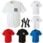 NewYork NY Yankees Baseball Stripe Open Tshirts sports wear Jersey shirt Top