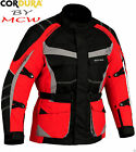 MCW Ghost Rider Red Neon Waterproof Motorcycle Motorbike Armour Jacket