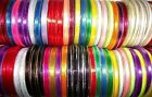 25 yards Reel of 6mm wide Gold Metallic Edged Satin Ribbon Choice of Colours