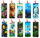 3D BOOKMARK - Labrador~Tiger~Dolphins~Penguin~Horses~Wolf~Kingfisher~Gift