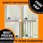 Universal Bath Shower Screen 4 Fold, Arc, Foil, Sail, Classic Easy Clean Glass