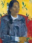 PAUL GAUGUIN TAHITIAN WOMAN WITH A FLOWER OLD MASTER ART PAINTING PRINT