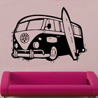VW splitscreen bus camper & Board volkswagen Vinyl Wall Sticker retro