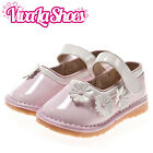 Girls Kids Toddler Childrens - Squeaky Shoes - Light Pink with White Flowers