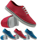 BRAND NEW LADIES LACE UP CANVAS TRAINERS PUMPS PlIMSOLES WOMENS FLAT SHOES SIZES