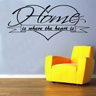 Home Is Where The Heart Decal Vinyl Wall Sticker  Art Sayings