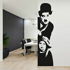 "Adesivo da parete Charlie Chaplin ""il Monello"" Vinyl Wall Stickers Decals"