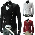 Fashion Mens Vintage Double Breasted Jackets Short motorcycle Coat Blazers X311