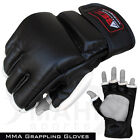 MMA Grappling Gloves UFC Mix Cage Fight Boxing Punching Bag Mitt Gloves - M - L