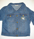 DOROTHY PERKINS Womens Ladies Embroidered Collar Blue Denim Jacket - 6 10 12 16