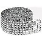 Darice Bling on a Roll Mesh Ribbon w/Multi-faceted Gems, Pick Color, Size
