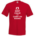KEEP CALM and carry on BOXING boxer fight funny slogan vintage mens t-shirt gift