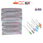 50x 100x BD NEEDLES STERILE 18G PINK 1.2x40 1,5INCH REFILL INK FAST UK P&P CHEAP