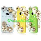 FOR APPLE iPHONE 5C DIAMOND CASE 3D BLING LUXURY CRYSTAL CUTE RHINESTONE COVER