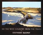 Vintage Southern Railways Padstow Railway Poster A3 / A2  Reprint