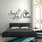 Sweet Dreams Butterfly Vinyl Art Home Wall Room Quote Decal Sticker Decoration